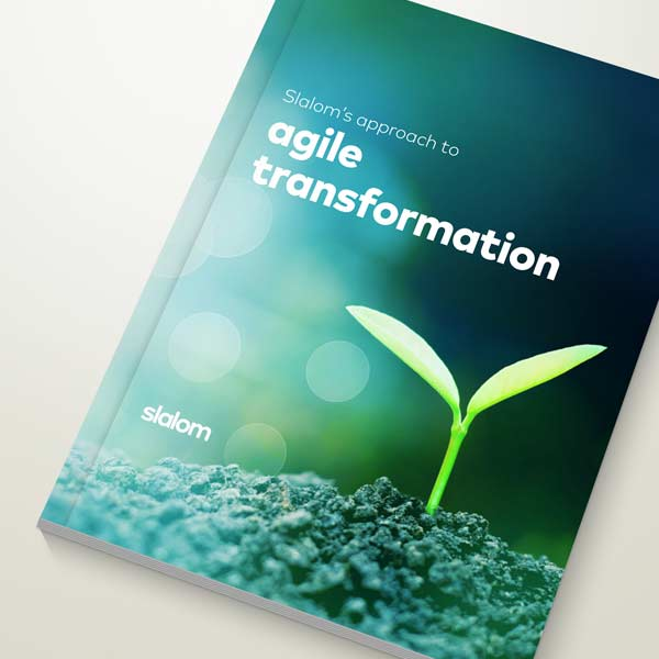 cover of agile transformation whitepaper