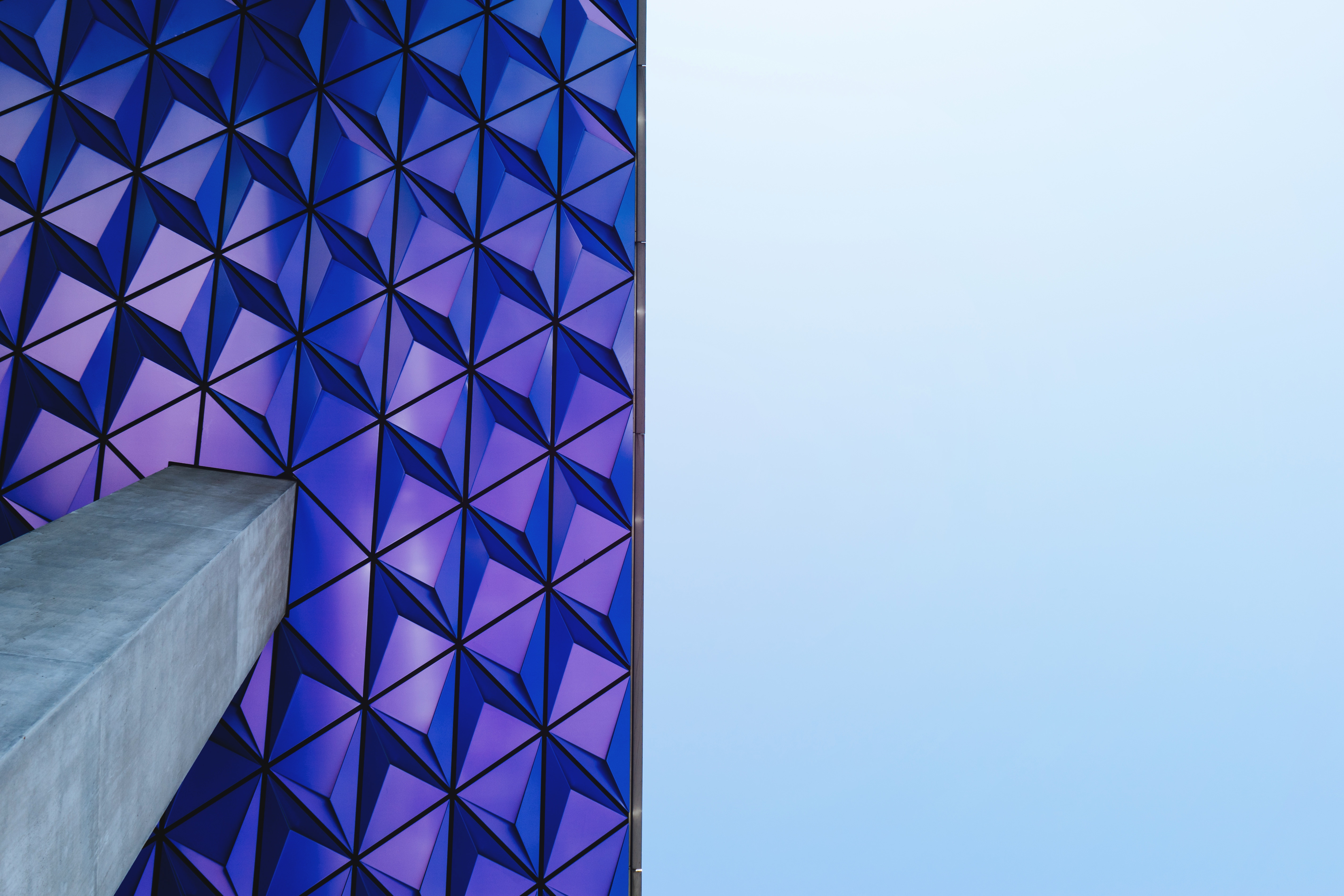 abstract architecture purple