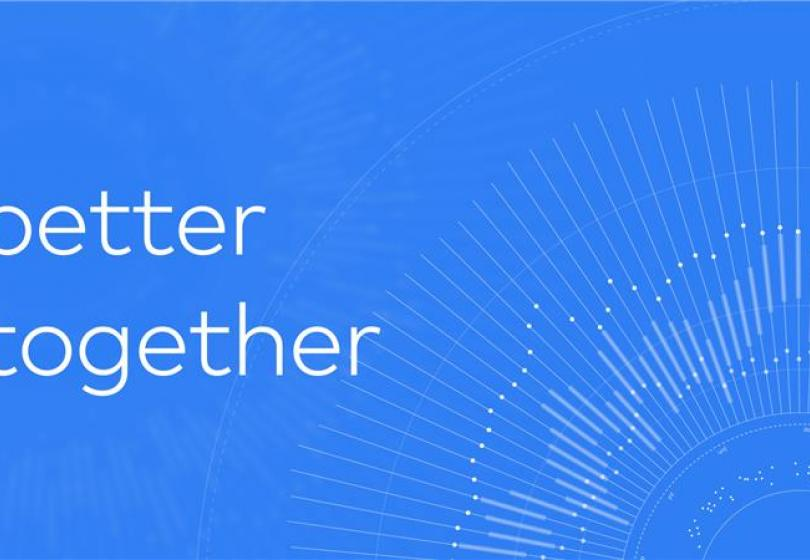 "abstract data visualization with text ""better together"""